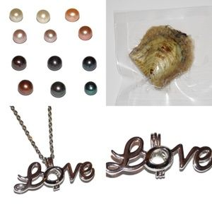 Love Pearl Cage Necklace Kit with Oyster